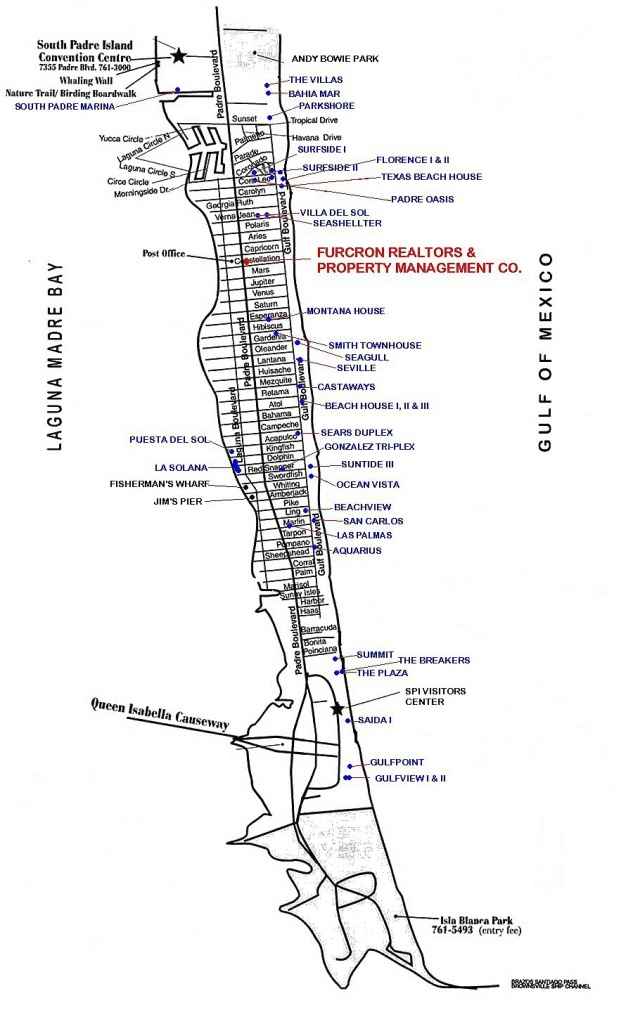 Map Of South Padre Island In Texas - Padre Island Texas Map