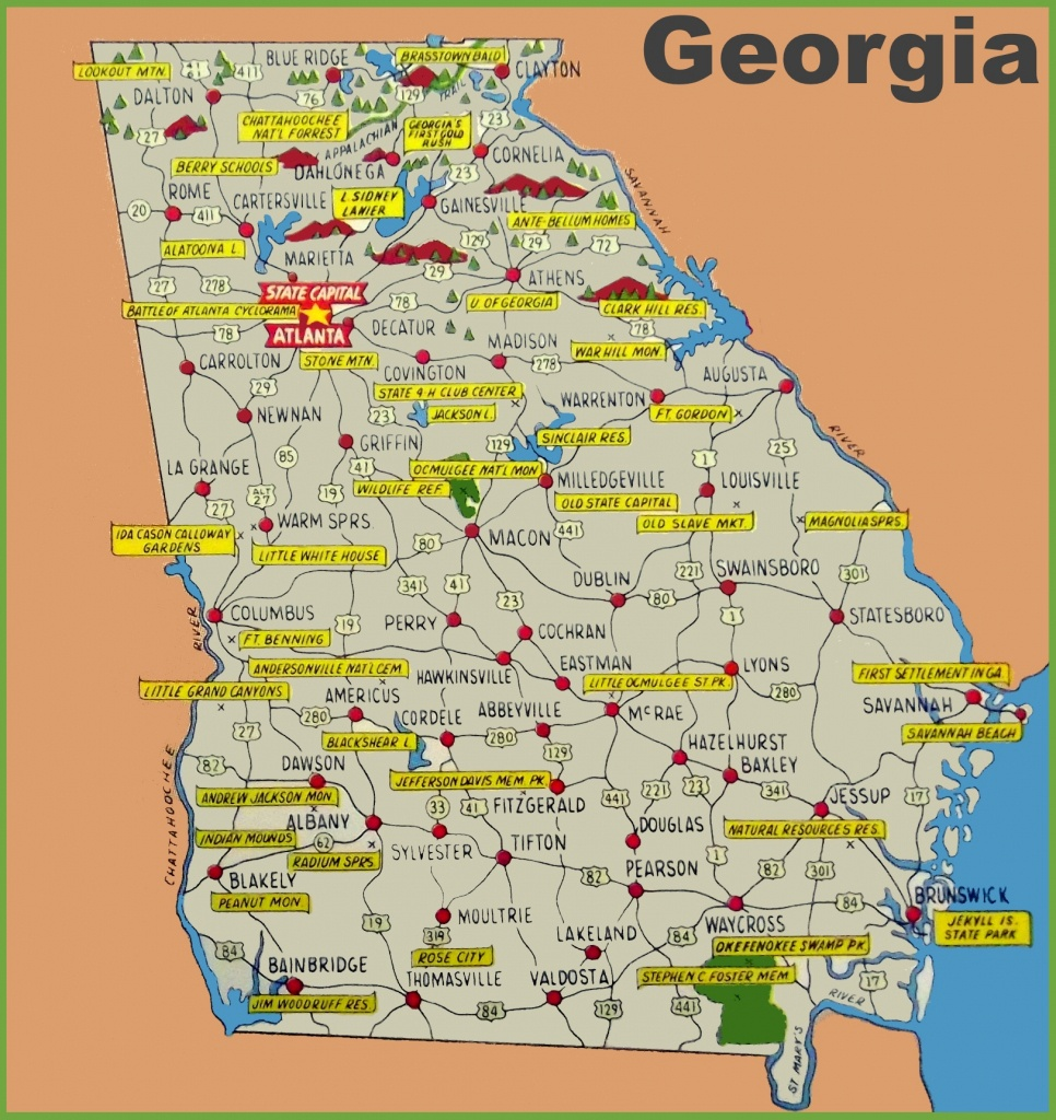 Map Of Southeast Ga And Travel Information | Download Free Map Of - Map Of Northeast Florida And Southeast Georgia