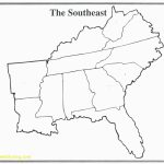 Map Of Southeast Printable Blank Us Road Southeastern Lovely The   Southeast States Map Printable