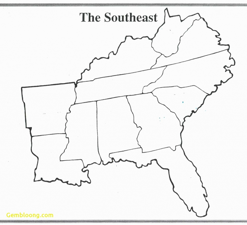 Map Of Southeast Printable Blank Us Road Southeastern Lovely The - Southeast States Map Printable