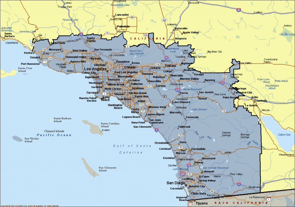 Map Of Southern California Cities | Southern California Cities That - Map Of Southern California Cities