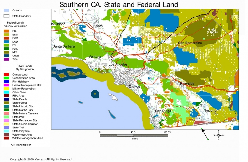 Map Of Southern California San Diego Area – Map Of Usa District - Blm Maps Southern California