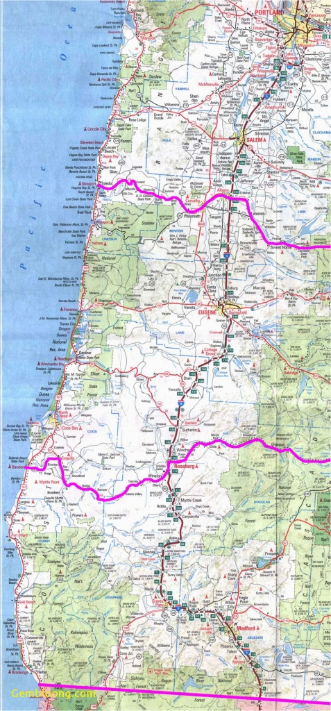 Map Of Southern Oregon And Northern California Map Of Oregon - California Oregon Border Map