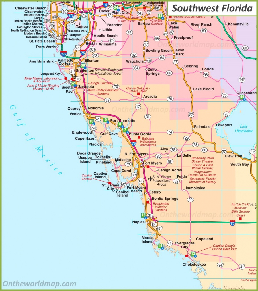 Map Of Southwest Florida - Map Of Sw Florida Cities