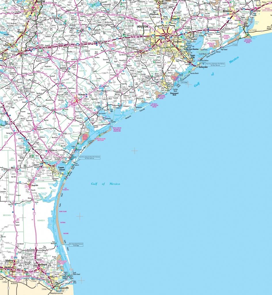 Map Of Texas Coast - Map Of Texas Coast