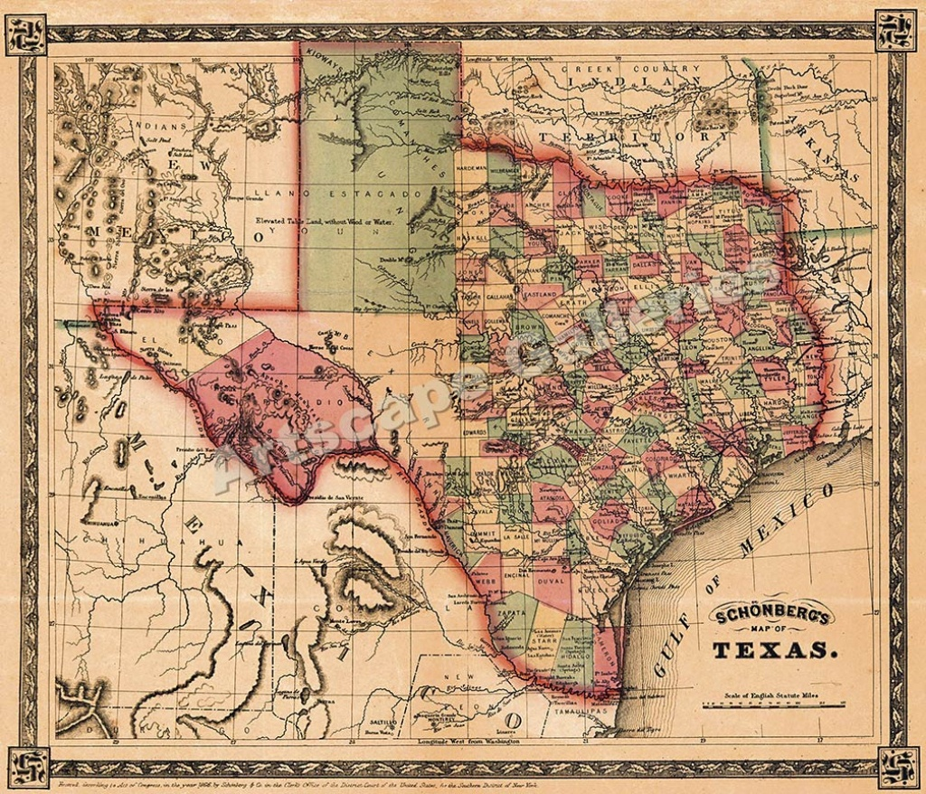 Map Of Texas For Sale | Business Ideas 2013 - Texas Historical Maps For Sale