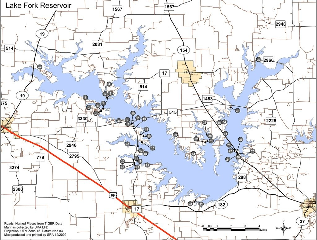 Map Of Texas Lakes And Reservoirs And Travel Information | Download - Texas Fishing Maps Free