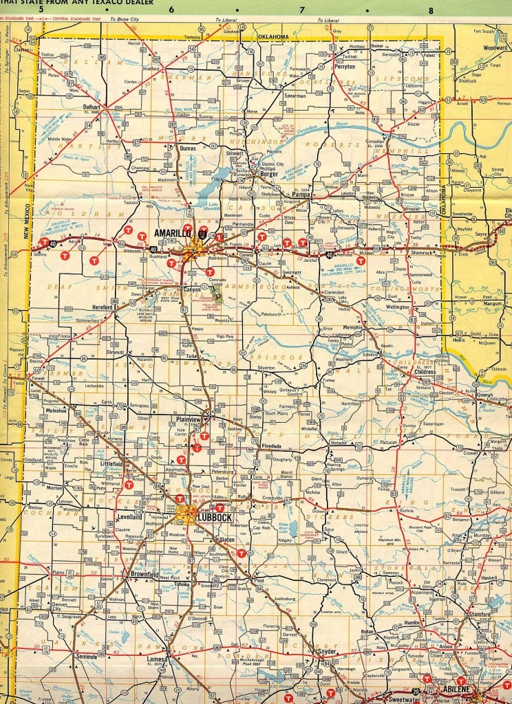 Map Of Texas Panhandle County | D1Softball - Texas Panhandle Road Map