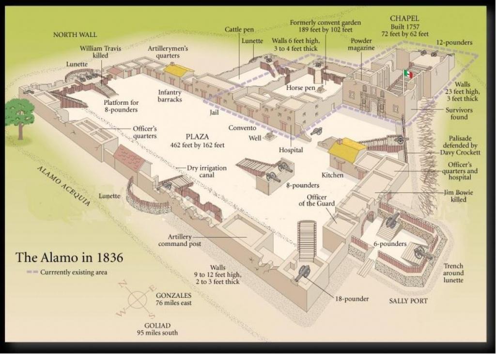 Map Of The Alamo - Alamo San Antonio Map (Texas - Usa) - Map Of The Alamo San Antonio Texas
