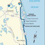 Map Of The Atlantic Coast Through Northern Florida. | Florida A1A   Map Of South Florida Beaches