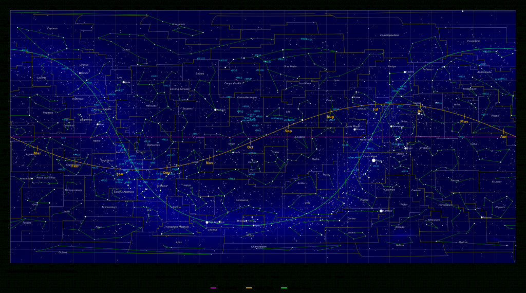 Map Of The Constellations - In-The-Sky - Printable Constellation Map