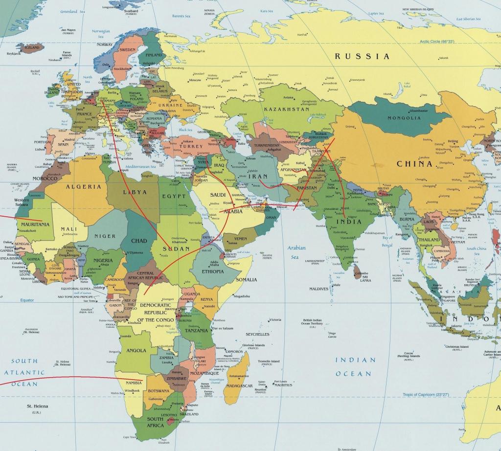 Map Of The Eastern Hemisphere | Ageorgio - Eastern Hemisphere Map Printable