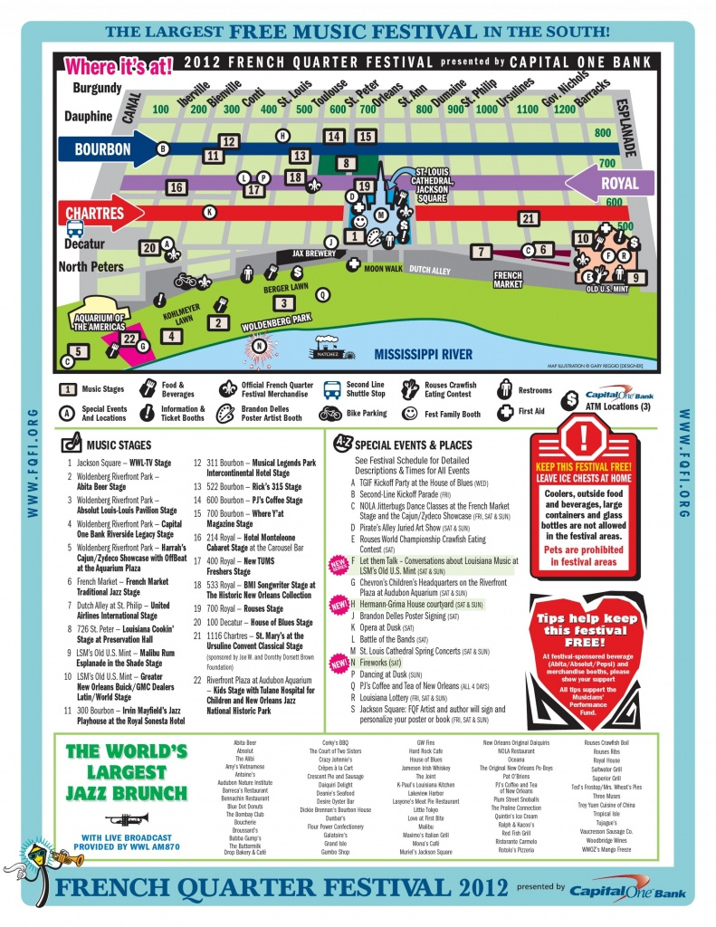 Map Of The French Quarter And Travel Information | Download Free Map - Printable French Quarter Map