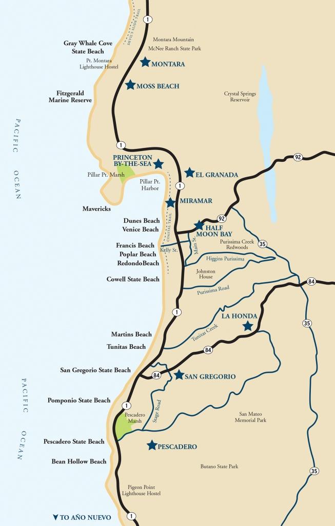 Map Of The Half Moon Bay Coastside   Visit Half Moon Bay - Half Moon Bay California Map