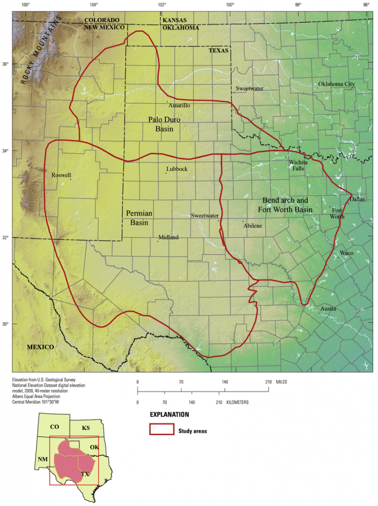 Map Of The Permian And Palo Duro Basins And Bend Arch-Fort Worth - Permian Basin Texas Map