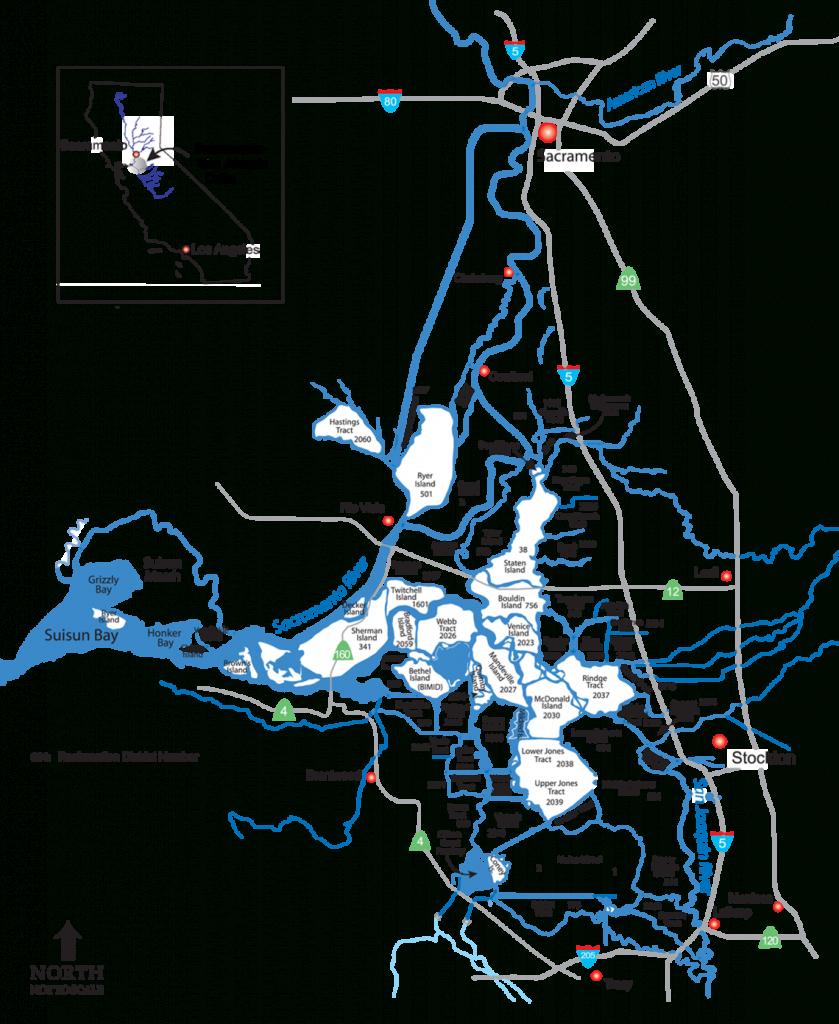 Map Of The Sacramento-San Joaquin Delta - California Delta Map