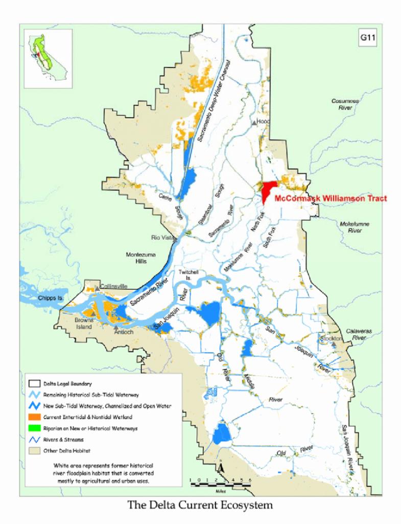 Map Of The Sacramento-San Joaquin Delta (Delta) Showing Position Of - Map Of California Delta Waterways