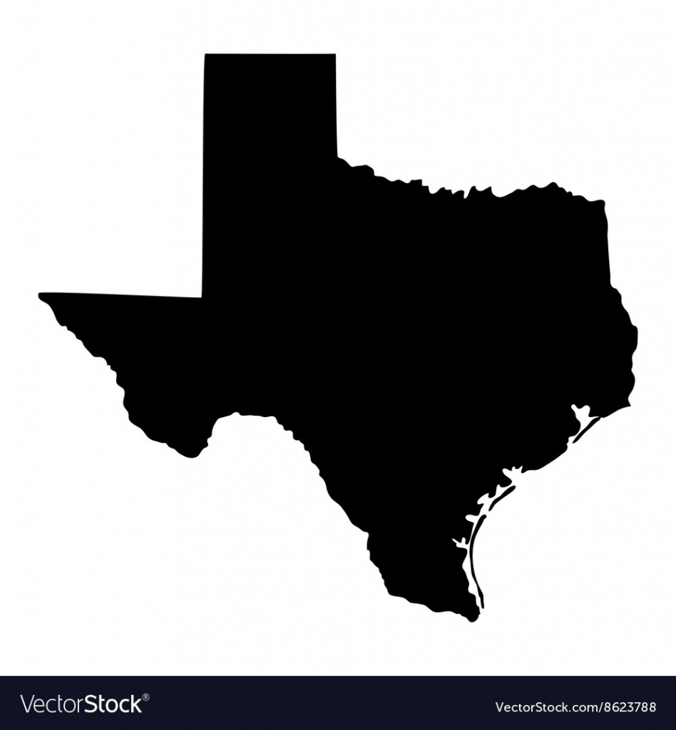 Map Of The Us State Of Texas Royalty Free Vector Image - Free Texas State Map