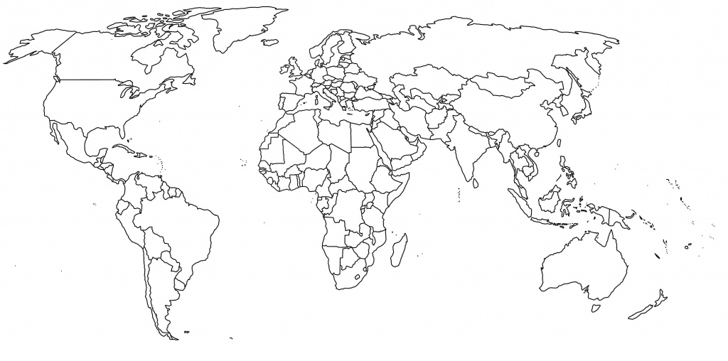 Map Of The World Printable - Maplewebandpc - Blank Map Printable World