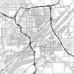 Map Of Toledo, Ohio | Hebstreits Sketches   Printable Map Of Toledo Ohio