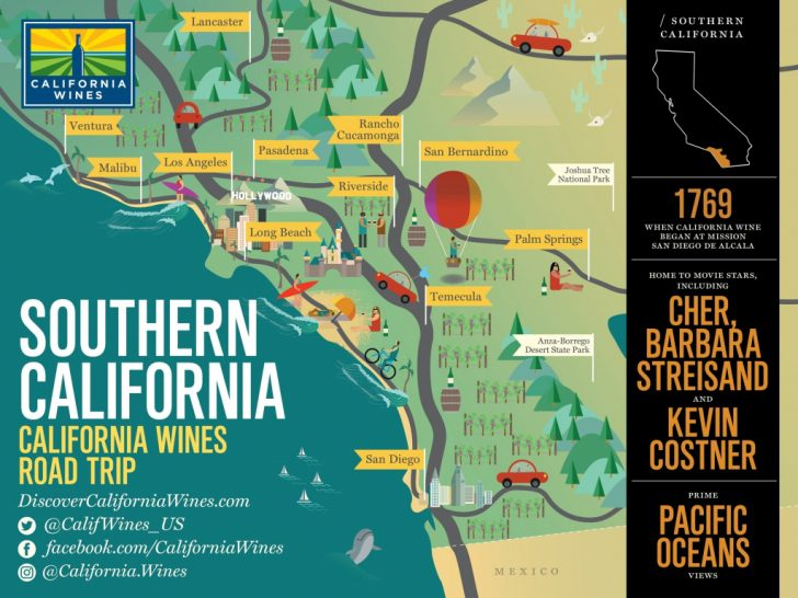 Southern California Attractions Map