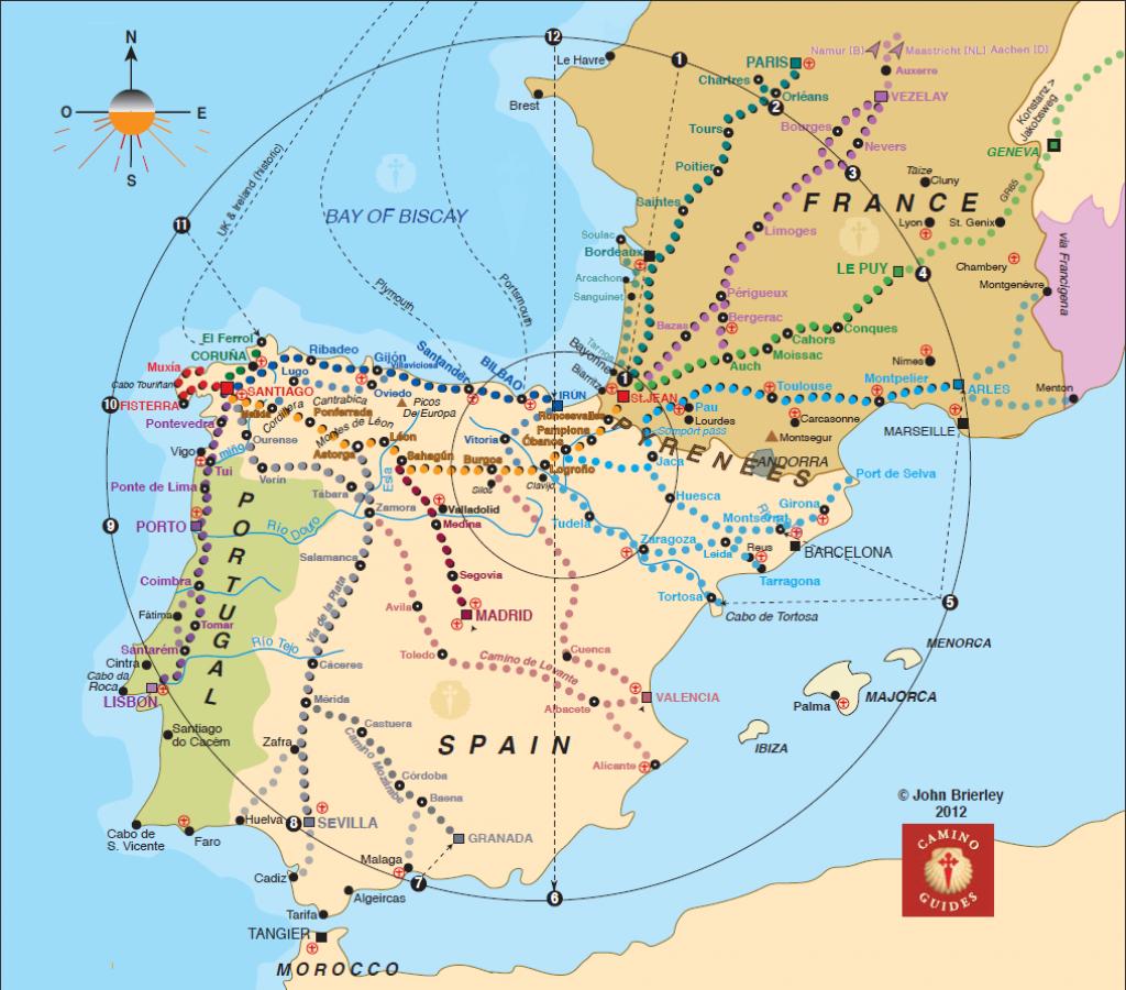 Map Of Trail To Camino | El Camino De Santiago Map | Worth It In - Printable Map Of Camino De Santiago