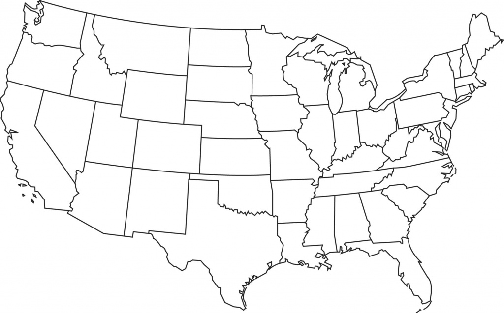 Map Of United States Blank And Travel Information   Download Free - Free Printable Outline Map Of United States