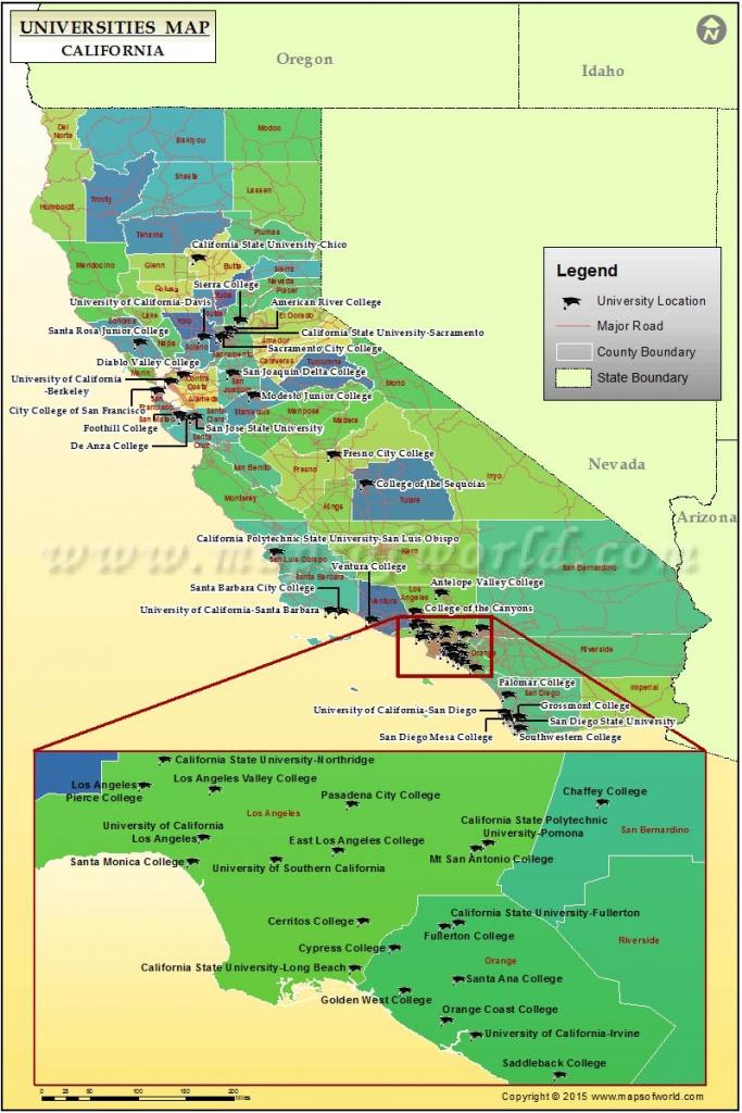 Map Of Universities In California, List Of Colleges And Universities - Colleges In California Map