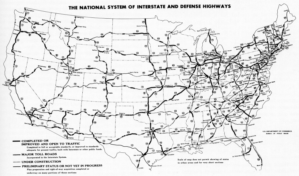 Map Of Us With Interstates | Sitedesignco - Printable Us Map With Interstate Highways
