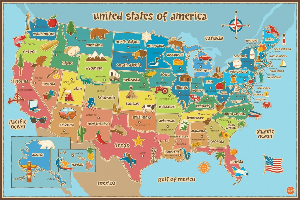 Map Of Usa For Kids Printable Usa Map For Kids | Travel Maps And - Printable Children's Map Of The United States