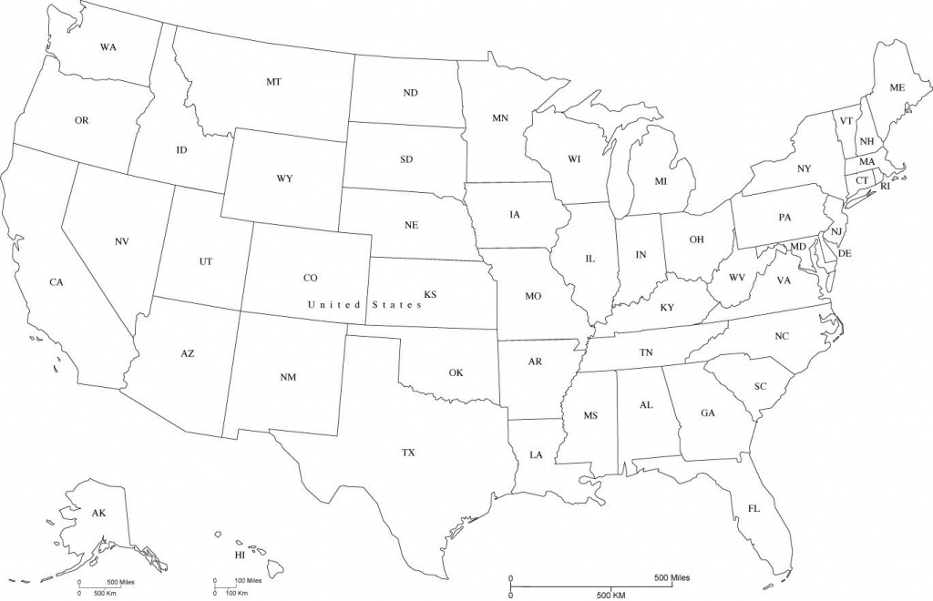 Map Of Usa States Abbreviated And Travel Information   Download Free - Printable Map Of Usa With State Abbreviations