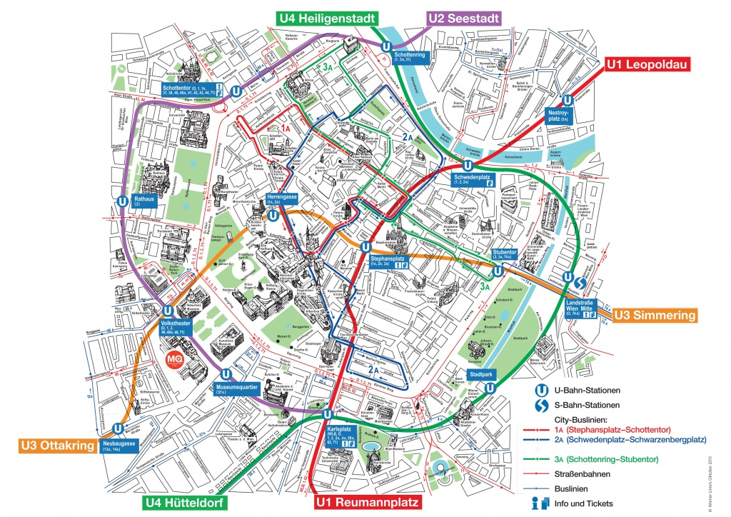 Map Of Vienna Tourist Attractions, Sightseeing & Tourist Tour - Vienna Tourist Map Printable