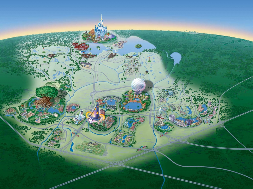 Map Of Walt Disney World Resort - Wdwinfo - Disney Parks Florida Map