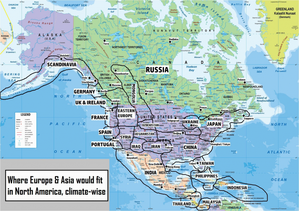 Map Of Western Canada And Us Map Awesome Political Map North America - Printable Map Of Western Canada