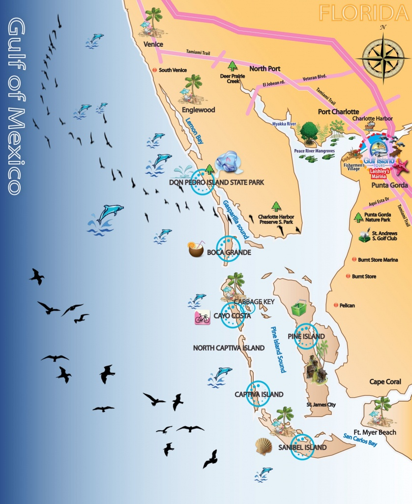 Map Out Your Next Vacation In The Florida Gulf! | Gulf Island Tours - Where Is Punta Gorda Florida On A Map