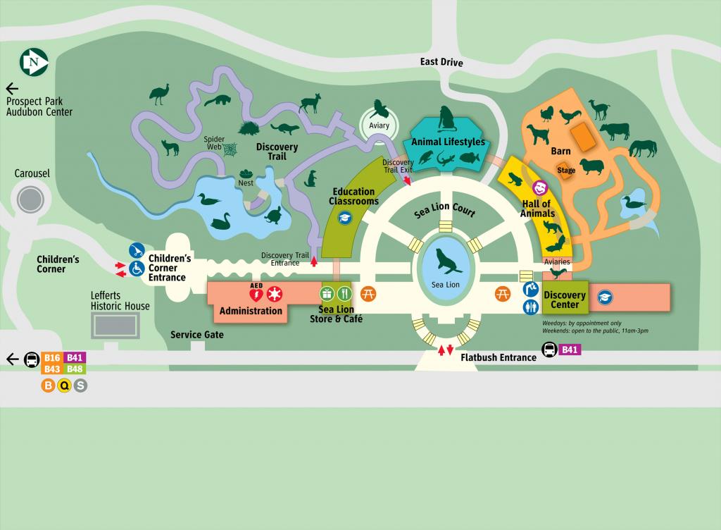 Map - Prospect Park Zoo - Bronx Zoo Map Printable