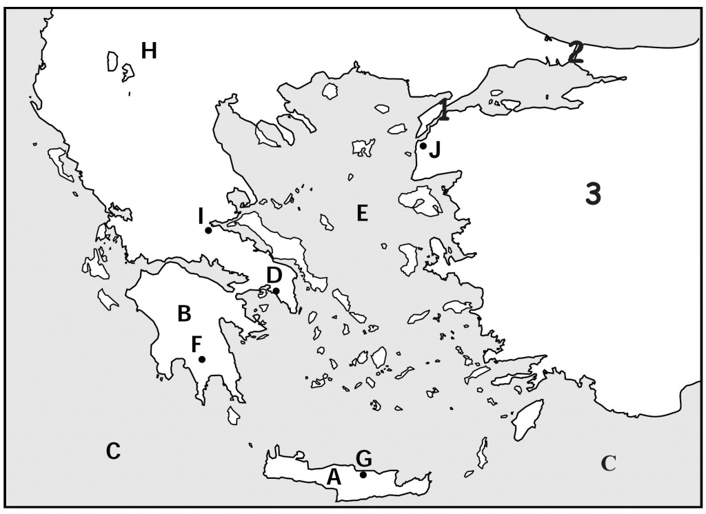 Map Quiz, Ancient Greeks For Kids   Homeschooling   Map Quiz, Greece - Outline Map Of Greece Printable