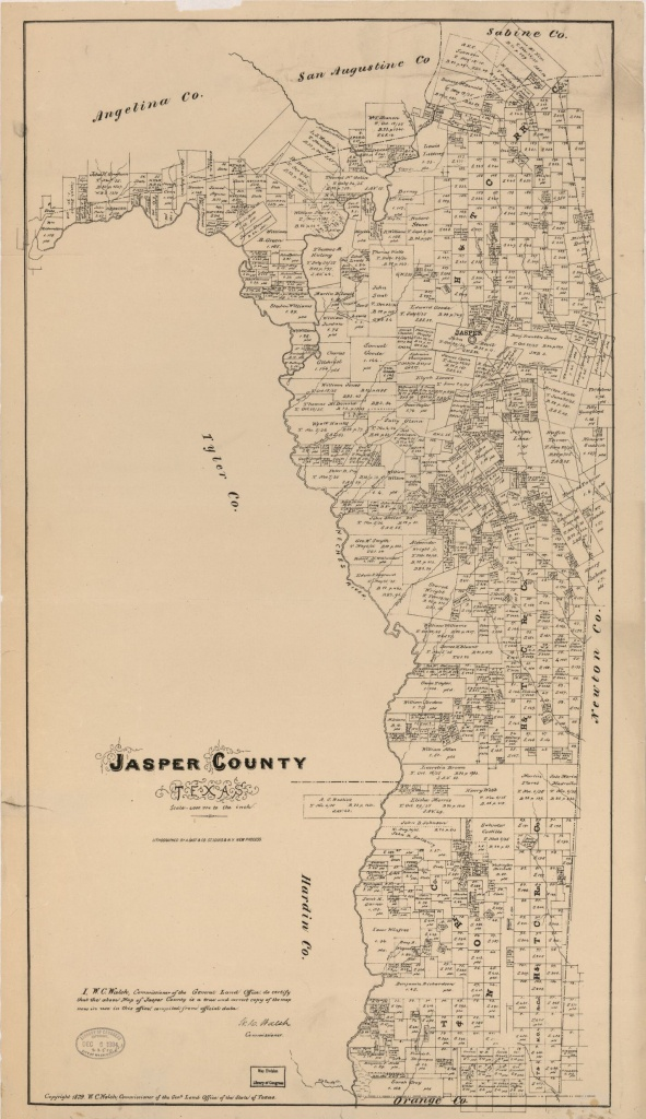 Map, Real Property, Texas, Jasper County | Library Of Congress - Jasper County Texas Parcel Map