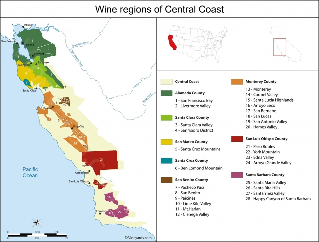 Map Reference. Central California Wineries Map – Reference In - Central California Wineries Map