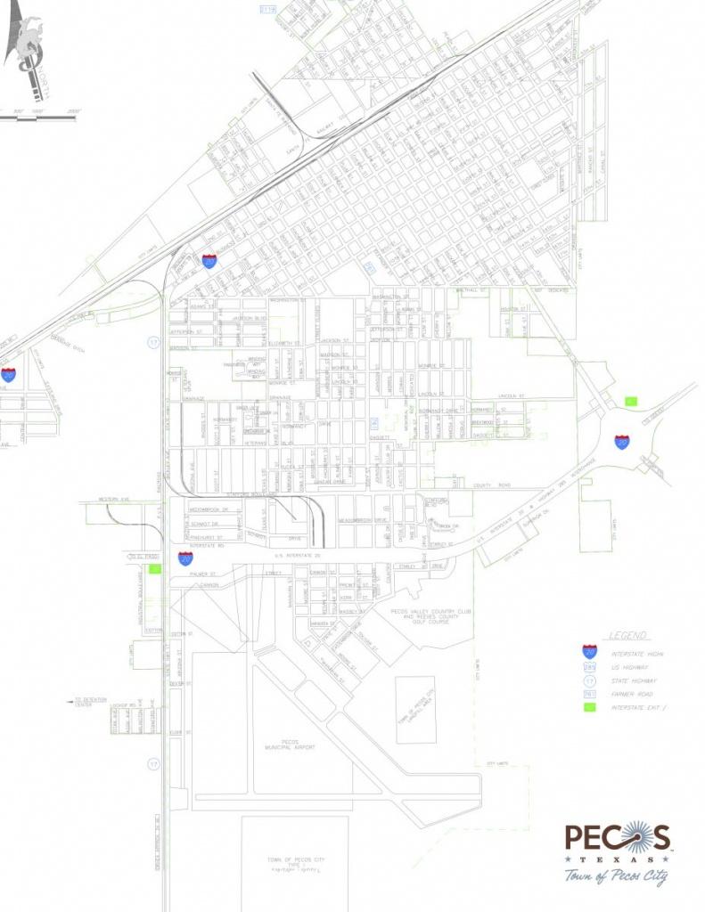 Map Room   Pecos, Tx Edc - Pecos Texas Map