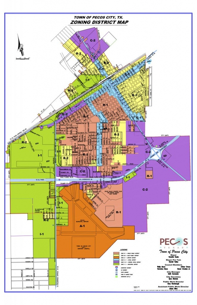 Map Room | Pecos, Tx Edc - Reeves County Texas Plat Maps