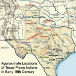 Map Showing The General Location And Dispersal Of Various Native   Texas Indian Tribes Map