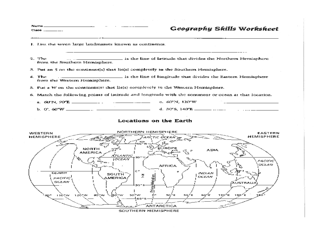 Map Skills Worksheet Pdf Fresh Best Solutions Of 6Th Grade Geography - Printable Map Skills Worksheets