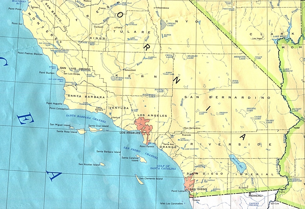 Map Socal And Travel Information | Download Free Map Socal - Southern California Fishing Spots Map