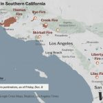 Map: Where Southern California's Massive Blazes Are Burning   Vox   Fires In Southern California Today Map