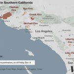 Map: Where Southern California's Massive Blazes Are Burning   Vox   Santa Ana California Map
