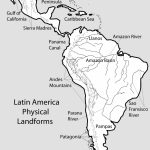 Map With Us And Latin America South America Beautiful North And   South America Physical Map Printable