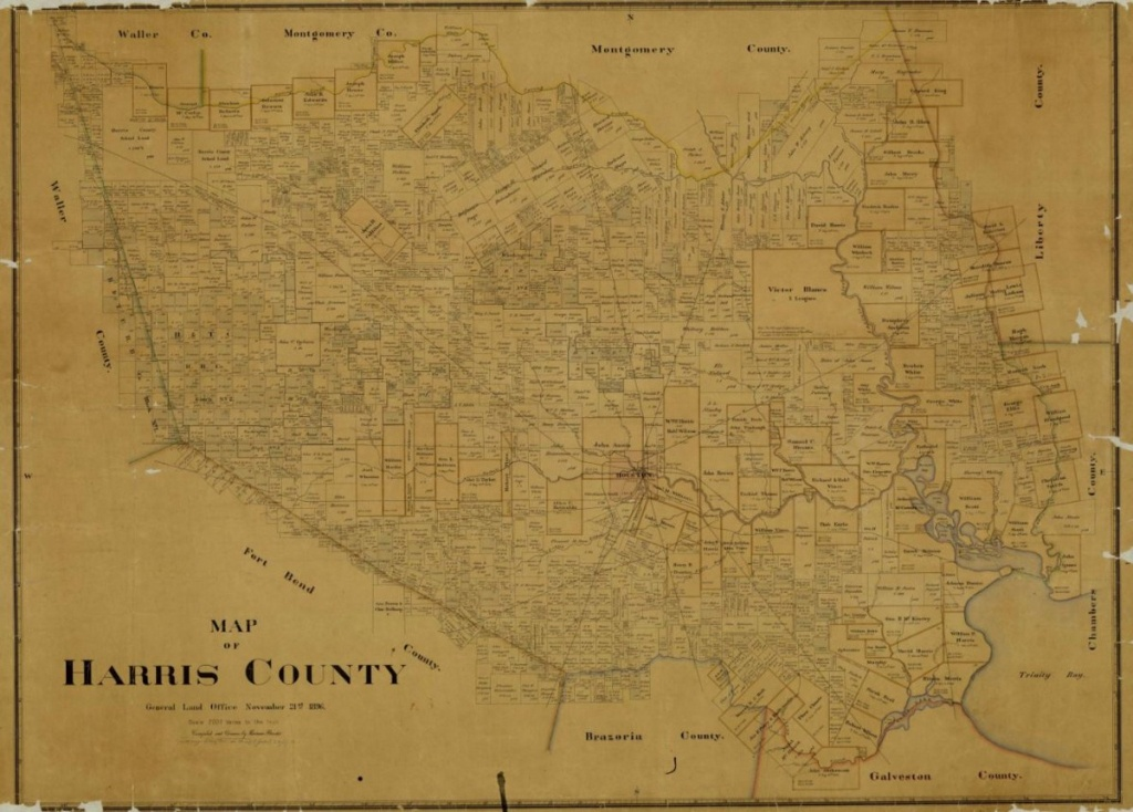 Mapping Texas: From Frontier To The Lone Star State — Map Of Harris - Map Records Of Harris County Texas