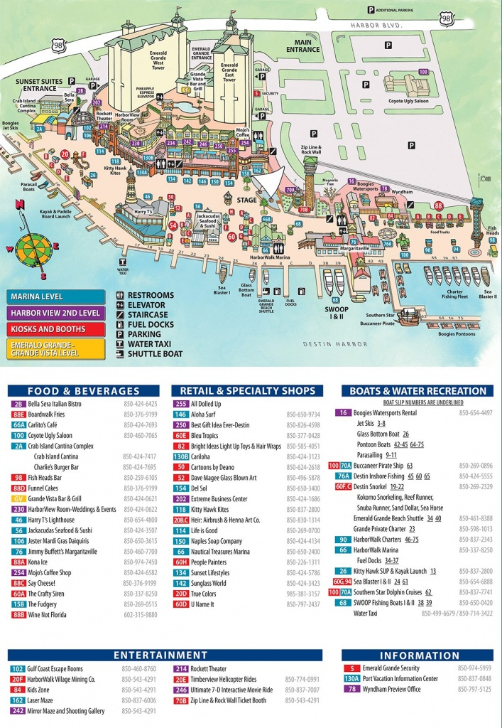 Maps And Directions | Emerald Grande Destin Vacation Rentals - Map Of Destin Florida Area