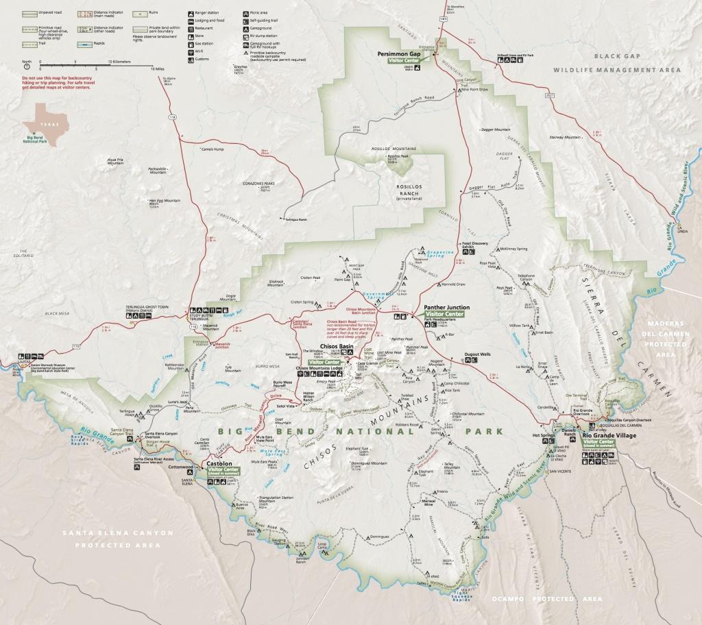 Maps - Big Bend National Park (U.s. National Park Service) - Texas Hiking Trails Map